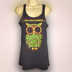 Next Level Rasta Owl Racerback Tank *THE MOVEMENT*
